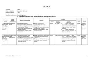 CONTOH SILABUS B.INDONESIA.doc