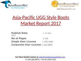 Asia-Pacific UGG Style Boots Market Report 2017.pptx
