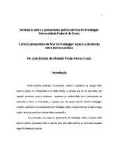 A Superação da Dicotomia Entre a Teoria e Pratica No Pensamento de Heidegger - Padre João Batista Ferraz Costa.pdf