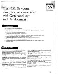 Chap. 29 High-Risk Newborn, Complications Associated with Gestational Age and Development.doc