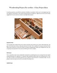 woodworking projects for beginners.pdf