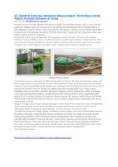 GE (General Electric) memasok Biogas Engine Technology.docx