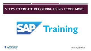 BDC Recording For Material Master (SAP Training) - Aspire Techsoft.pdf