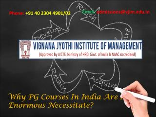 Why PG Courses In India Are In Enormous Necessitate.pdf
