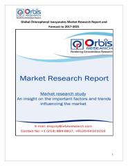 Global Chlorophenyl Isocyanates Market Research Report and Forecast to 2017-2021.pdf