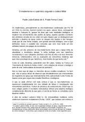 O Modernismo e a Patrística segundo o Cardeal Billot - Padre Joao Batista de a Prado Ferraz Costa.pdf