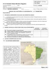 Prova de História e Geografia - 5º ano.doc