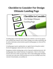 Checklist to Consider For Design Ultimate Landing Page.pdf