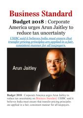Budget 2018 - Corporate America urges Arun Jaitley to reduce taxuncertainty.pdf