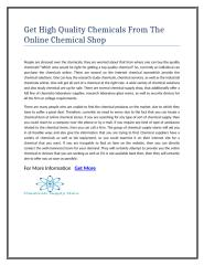 Get High Quality Chemicals From The Online Chemical Shop.doc