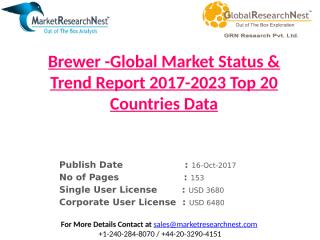 Brewer -Global Market Status & Trend Report 2017-2023 Top 20 Countries Data.pptx