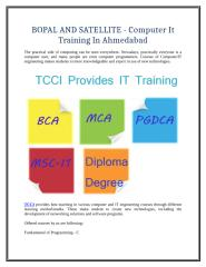 BOPAL AND SATELLITE - Computer It Training In Ahmedabad.doc
