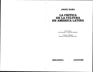 Critica de la cultura en América Latina.PDF