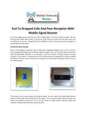 End to Dropped Calls and Poor Reception with Mobile Signal Booster.pdf