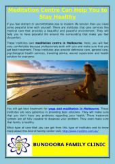Meditation Centre Can Help You to Stay Healthy.pdf