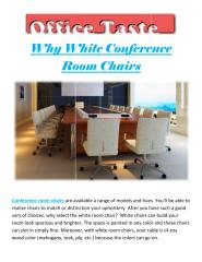 Why White Conference Room Chairs.pdf